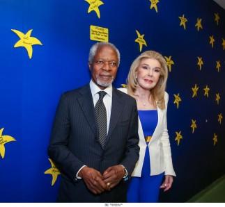 ΣΥΛΛΟΓΟΣ ΕΛΠΙΔΑ / Ο Kofi Annan στην Ογκολογική Μονάδα Παίδων