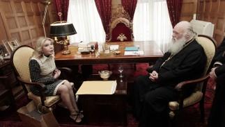 Συνάντηση Μακαριωτάτου Αρχιεπισκόπου Αθηνών και Πάσης Ελλάδος κ. Ιερωνύμου με την Πρόεδρο του Συλλόγου ΕΛΠΙΔΑ κυρία Μαριάννα Β. Βαρδινογιάννη