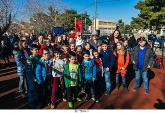 H σύζυγος του Προέδρου της Κυπριακής Δημοκρατίας, κυρία Άντρη Αναστασιάδη, εγκαινιάζει την Παιδική Χαρά στη Μάνδρα Αττικής