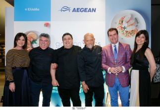 Η AEGEAN φέρνει κοντά κορυφαίους εκφραστές της ελληνικής γαστρονομίας και ταξιδεύει τις συνταγές τους σε όλο τον κόσμο / Οι Λευτέρης Λαζάρου, Χριστόφορος Πέσκιας, Στέλιος Παρλιάρος δημιουργούν το νέο μενού της Business Class έχοντας συνοδοιπόρο τον Master of Wine Κωνσταντίνο Λαζαράκη για τις οινικές επιλογές