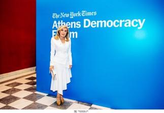 Η ΠΡΕΣΒΥΣ ΚΑΛΗΣ ΘΕΛΗΣΕΩΣ ΤΗΣ UNESCO ΜΑΡΙΑΝΝΑ Β. ΒΑΡΔΙΝΟΓΙΑΝΝΗ ΣΤΟ ATHENS DEMOCRACY FORUM
