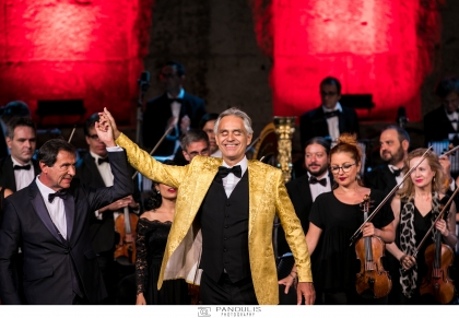Andrea Bocelli στο Ηρώδειο για το International Foundation for Greece (IFG)