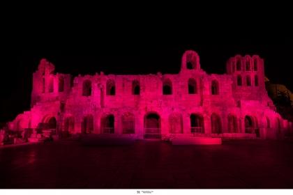 ΤΟ ΗΡΩΔΕΙΟ ΦΩΤΙΣΤΗΚΕ ΡΟΖ στο πλαίσιο της παγκόσμιας εκστρατείας για τον καρκίνο του μαστού. Για ακόμα μία χρονιά, ο όμιλος Εταιρειών Estée Lauder πραγματοποίησε τη συμβολική φωταγώγηση ενός σπουδαίου μνημείου της Αθήνας, στo πλαίσιo της παγκόσμιας εκστρατείας για τον καρκίνο του μαστού