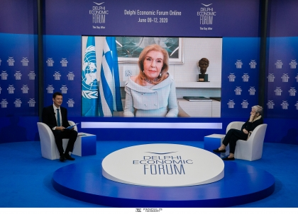 DEF 2020. Θερμοπύλες και Σαλαμίνα: Ο Θρίαμβος της Θέλησης Συζήτηση της Μαριάννας Β. Βαρδινογιάννη με την Ελένη Αρβελέρ